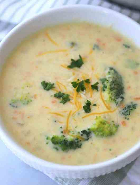 creamy potato broccoli cheese soup