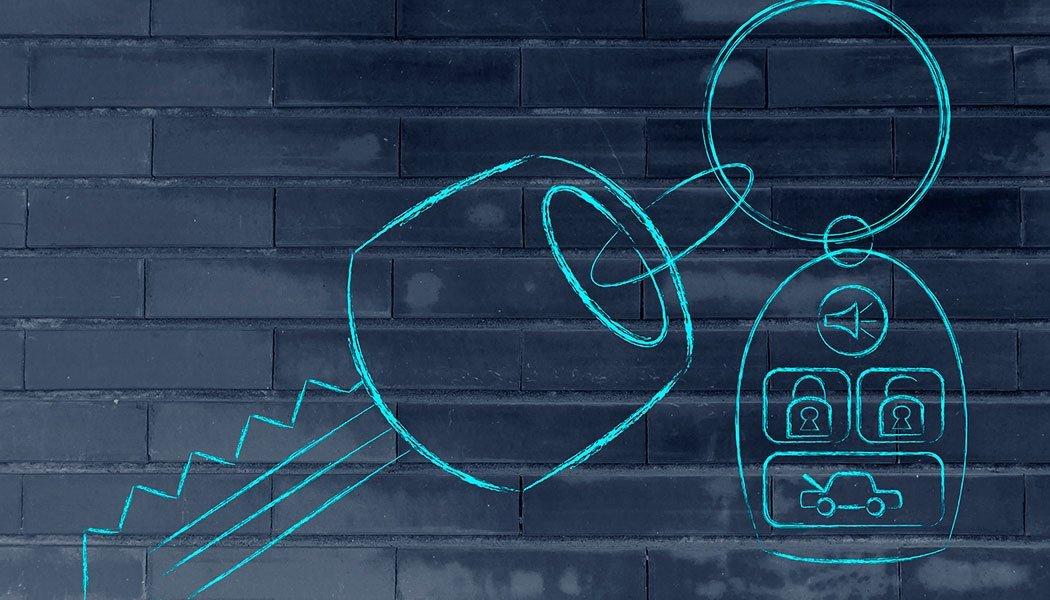 illustration of outline of car keys