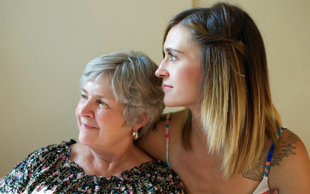 millennial and her mom with early onset alz requiring around the clock care