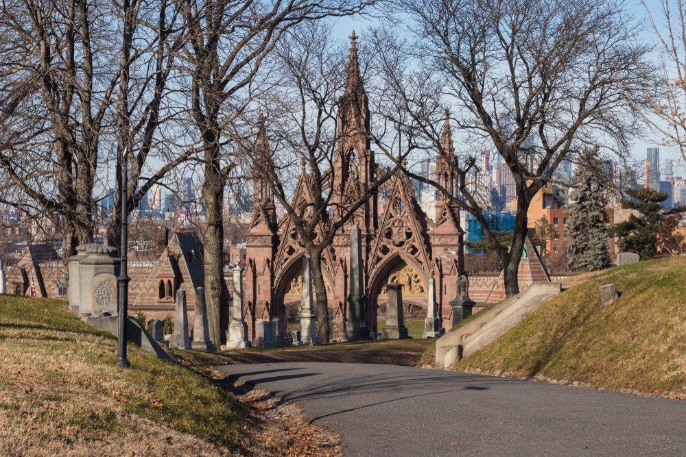greenwood cemetery gates in brooklyn new york