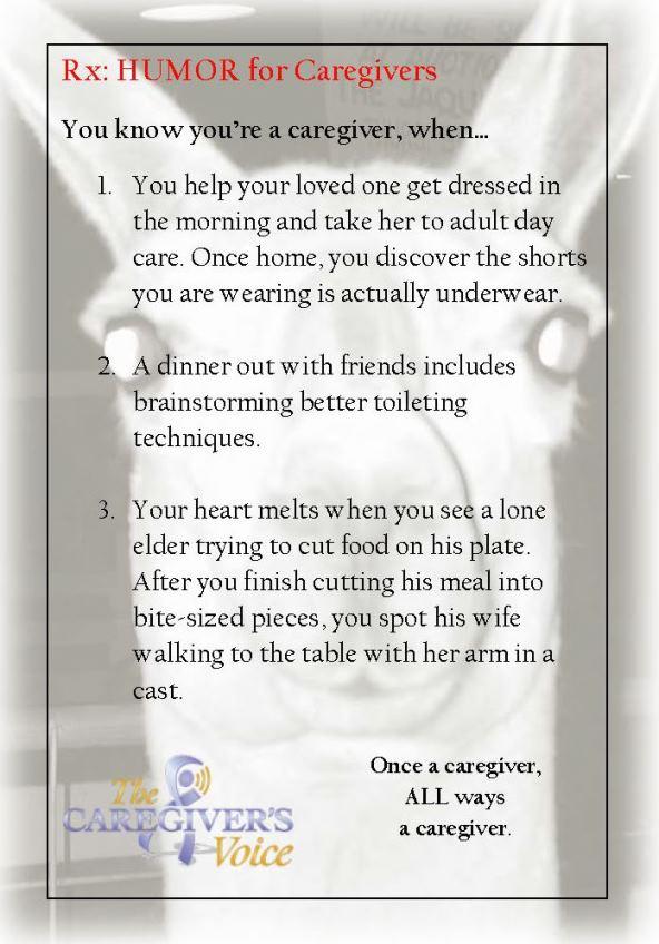 The Caregiver S Voice Humor