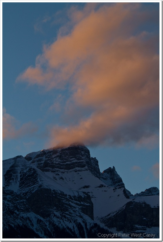 Alpen Glow In Canmore