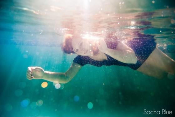 Title Underwater Senior Portrait