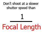 Don't Shoot At A Slower Shutter Speed Than 1 Over Focal Length