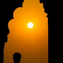 Silhouettes, Red Fort, Delhi, India