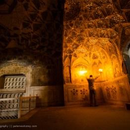 Inside a royal bathhouse, Red Fort, Delhi, India