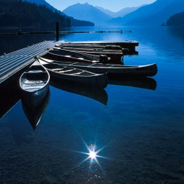 Crescent Lake Morning, Olympic Peninsula, Washington, USA