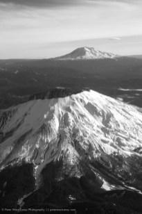 Mt. St. Helens and Mt. Rainier, Washington, USA