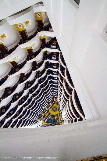 Looking Down The Burj Al Arab, Dubai, United Arab Emirates