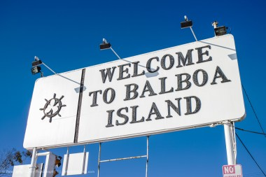 Welcome To Balboa Island, California, USA