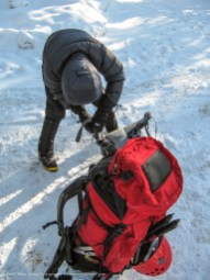 Getting Ready To Ice Climb, Alberta, Canada
