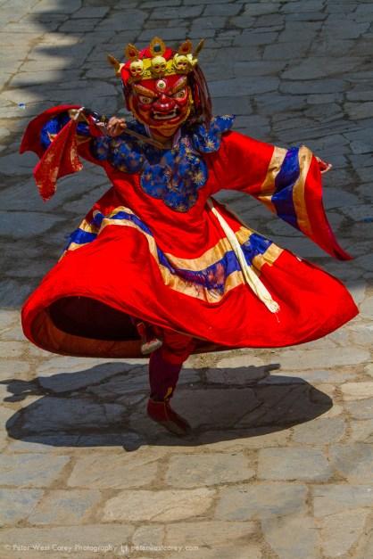Masked Dancing, Paro, Bhutan