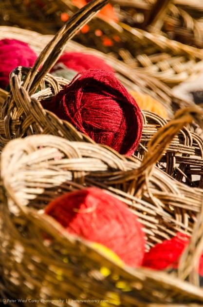 Yarn In Baskets, Peru