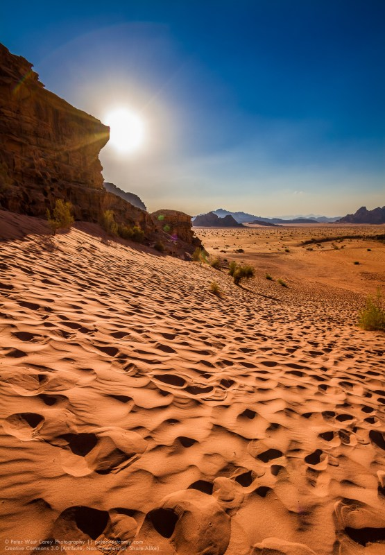 Sunshine In The Wadi Rum Desert, Aqaba, Jordan