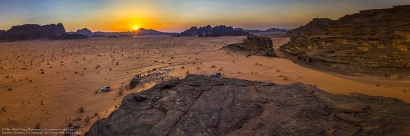 Wadi Rum At Sunset, Jordan