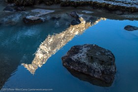 Reflection of mountain in lake - Nepal