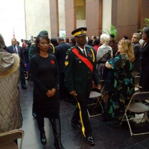 Newly elected MP Celina Caesar-Chavannes, seen at a Black veterans event.