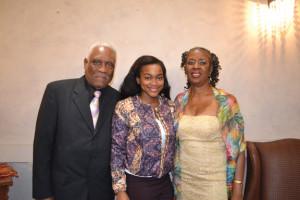 Alvin Adore with Scholarship Award winner Jonanna Okore and  Lystre Pierre. Gerald. V. Paul photo.