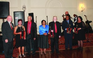 Zoomers Association of Trinidad & Tobago held their 2015 Awards Ceremony Dec. 13 at Elite Banquet Hall. Members were honored for outstanding work in the community with awards presented by Councillor Ron Starr, representing Mayor Bonnie Crombie. They are, fom left, Indra and Ray Khan, Christine and Ian Mc.Kenzie, Joseph Caesar and Cherry Sookdeo.