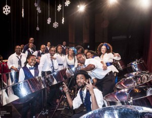 The fresh faces of pan Young members of Afropan lit up Snowflakes on Steel last weekend as the 19th rendition of the winter extravaganza heated up P.C. Ho Theatre. More photos, Gerard Richardson photo.