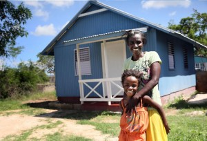 A mother and child in Jamaica who were helped by Food For The Poor. By Gerald V. Paul