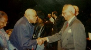 Dr. Cheddi Jagan on his visit to York University in Toronto.