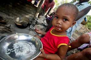 Some children in Haiti and Central American countries are not getting enough to eat.