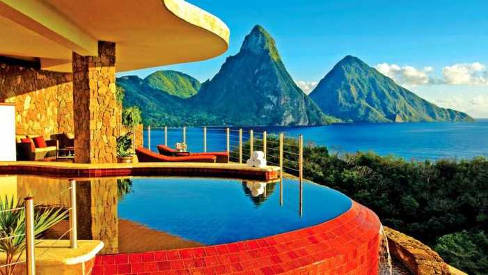 Jade Mountain resort rated as number one hotel in St. Lucia