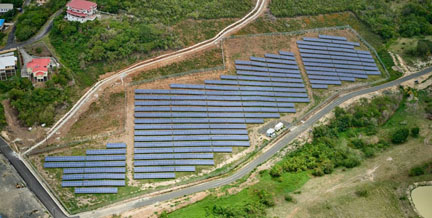 Official opening today of solar farm in St.Lucia