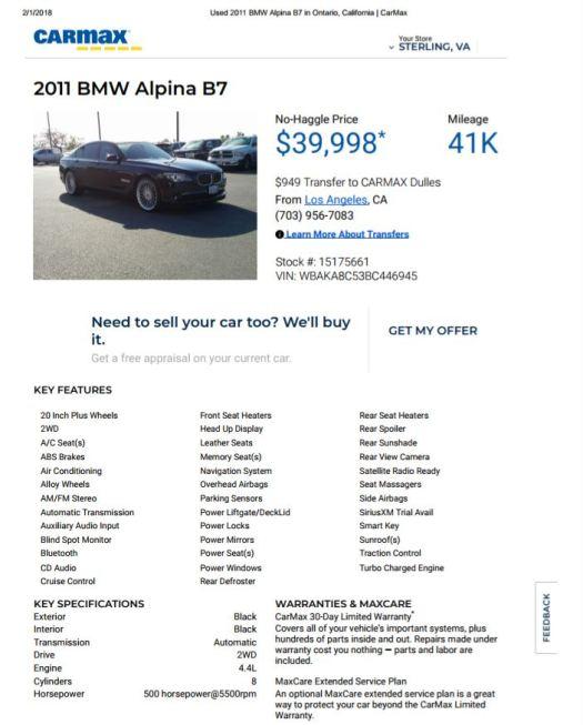 2011 Alpina B7