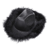 BLACK LUREX COWGIRL HAT