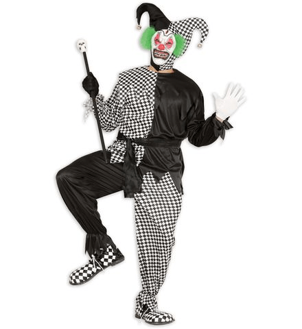 BLACK-WHITE EVIL JESTER