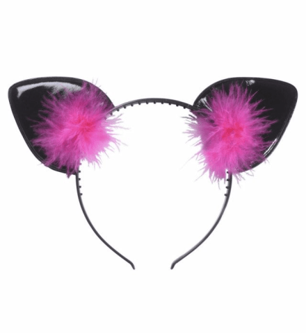 CAT EARS WITH FEATHERS