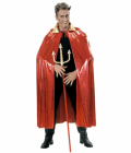 METALLIC RED CAPE WITH GOLD COLLAR