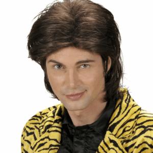 WET LOOK HAIR WIG brown