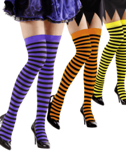 NEON STRIPED OVER THE KNEE SOCKS