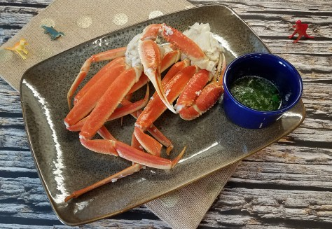 Snow Crab with Lime Cilantro Butter