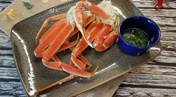 Steamed Snow Crab with Cilantro Lime Butter