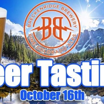 Breckenridge Brewery Beer Tasting | October 16th