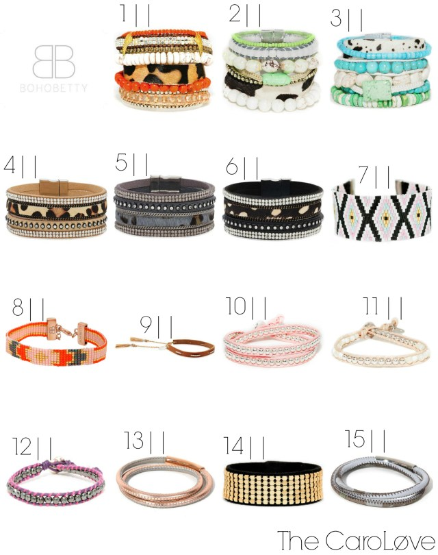boho betty wrap bracelets