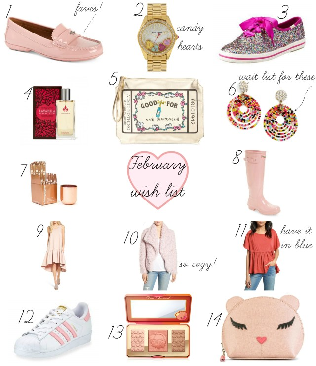 the carolove february wish list