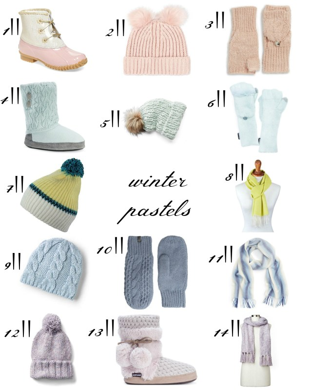 the carolove winter pastels