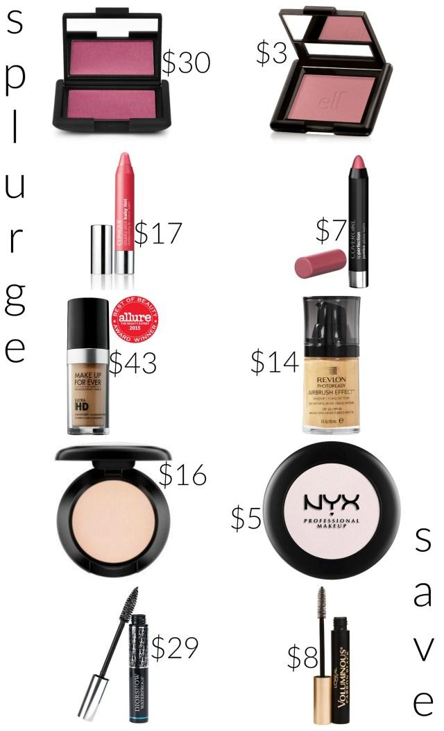 the carolove save splurge makeup
