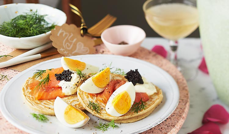 Seafood Recipe: Blinis With Egg & Smoked Salmon