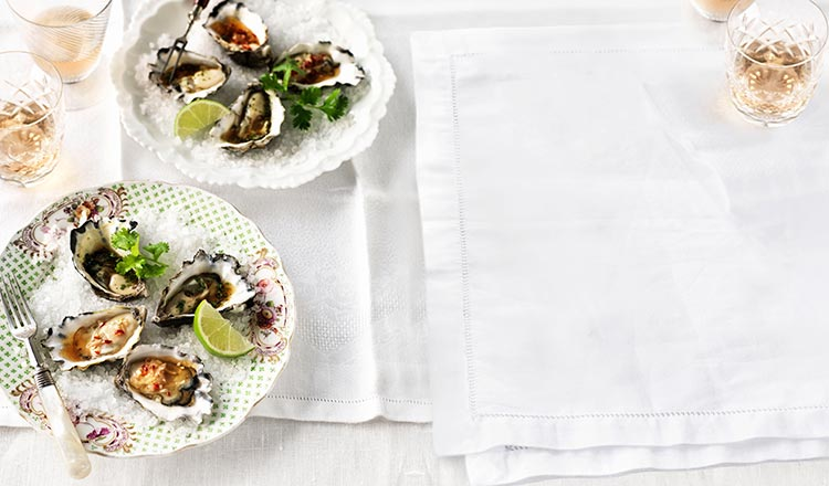 Seafood Recipe Thai Inspired Oyster Duo