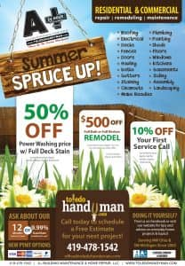 Let A+ Building Maintenance Spruce up your home for summer. Home Improvements and Remodeling in Toledo, Ohio
