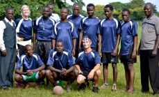 We played four student vs staff soccer games while I was in Uganda