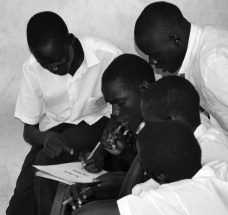 These boys were working on a group activity which I had assigned.