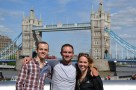 At Tower Bridge with two great friends!