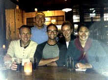 Joe, Kevin, Me, Victoria and Sia having a beer in Auckland